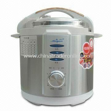 Mechanical Pressure Cooker with Wooden Handle and Two-way Openings