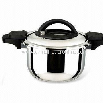 Pressure Cooker, Made of Stainless Steel with Mirror Finish