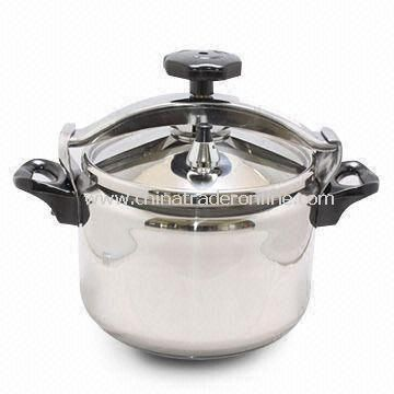 Pressure Cooker with 24cm Diameter and 1.2mm Thickness, Made of 18/8 Stainless Steel (SUS304)