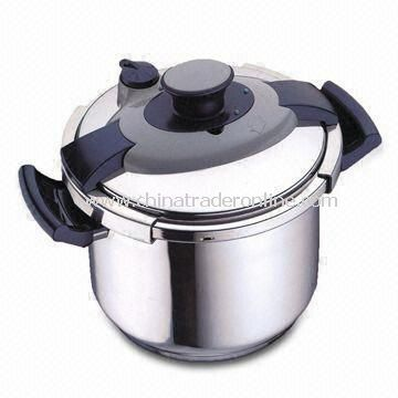Pressure Cooker with Stainless Steel Material, 3/4/5/6/7L Capacity and Capsulated Bottom
