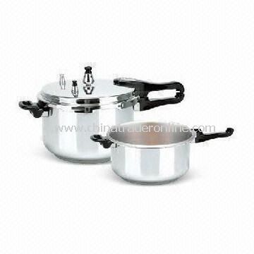Pressure Cookers with 1.2mm Stainless Steel Body, Bakelite Handle, 3.5 and 6L Capacities