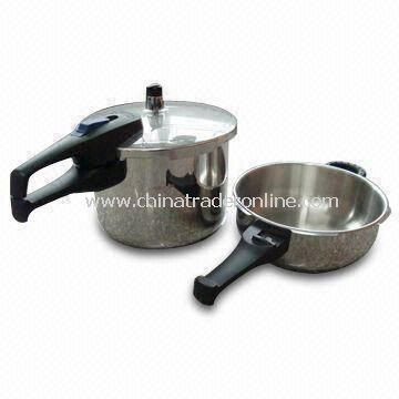Pressure Cookers with 3 and 6L Capacities, Made of Stainless Steel