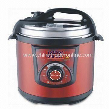 Pressure Rice Cooker with Non-stick Aluminum Inner Pot, Made of Stainless Steel