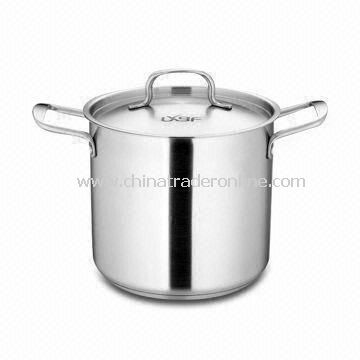 Stainless Steel Covered Stock Pot, Ideal for Cooking Pasta, Making Soups, Sauces and Stocks
