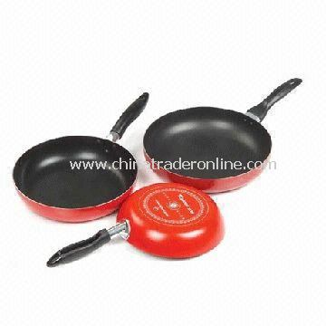 Aluminum Non-stick Fry Pans with Optional Handles and 16 to 32cm Diameter