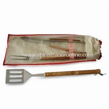 Barbecue Tool Set with Heat Resistance, Made of Stainless Steel Material