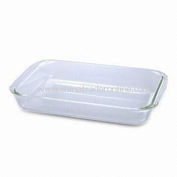 Borosilicate Glass Rectangle Casserole Dish, 1.0/1.8/2.5/3.0L Capacity and Heat-resistant