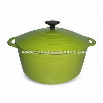 Cast Iron Casserole Dish with Diameter of 26cm Colored-enamel Coating