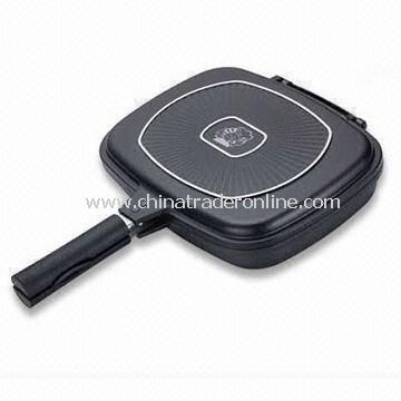Double Fry Pan with Non-stick Coating inside, Measures 28 x 21cm