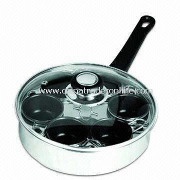 Egg Poacher with Glass Lid and Stainless Steel Handle, Accessories and Tools for Customers Choice