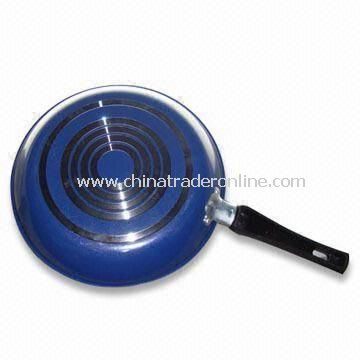 Fry Pan with Non-stick, Bottom, Jump Hoop Cutting, Made of Aluminum
