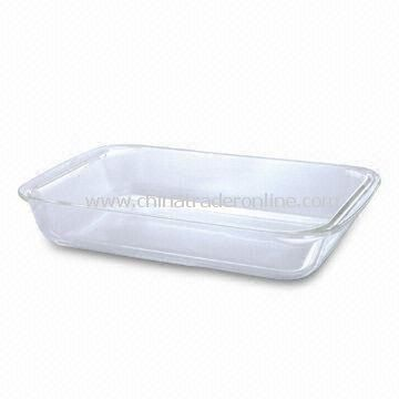 Heat-resistant Glass Rectangle Casserole Dish, 1.0/1.8/2.5/3.0L Capacity, Made of Borosilicate Glass