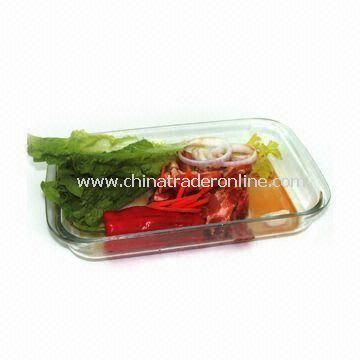 Heat-resistant Glass Rectangle Casserole Dish with 1.0/1.8/2.5/3.0L Capacity