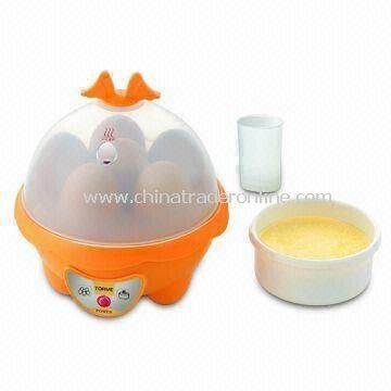 Overheat Protected Egg Cooker with Aluminum Alloy PTC Heater, Energy and Time Saving