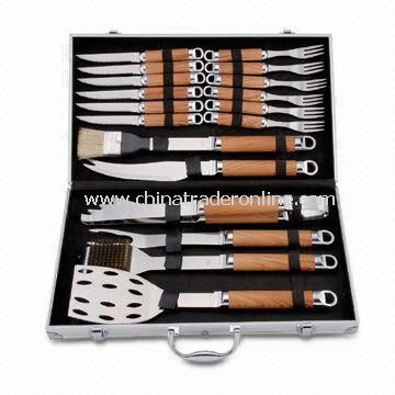 18pcs BBQ Tool Set, Packed in Aluminum Case