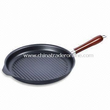 24cm Grill Pan with 1.2mm Thickness, Non-stick Coating Inner and Outer, Made of Carbon Steel