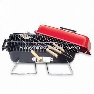 Barbecue Tool Set with Heat Resistance, Hard Wood Handle