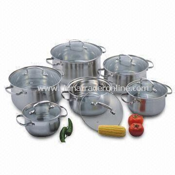 Dutch Oven, Made of High-quality Stainless Steel, with Casted Steel Handle and Knob