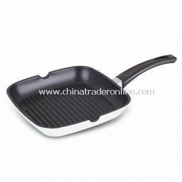 Grill Pan, Non-stick, Made of Cast Aluminum