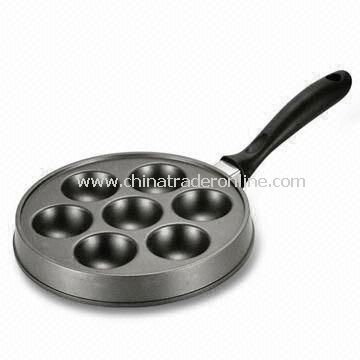 Grill Pan with Black Handle, Available in Size of 22cm, Customized Design are Accepted