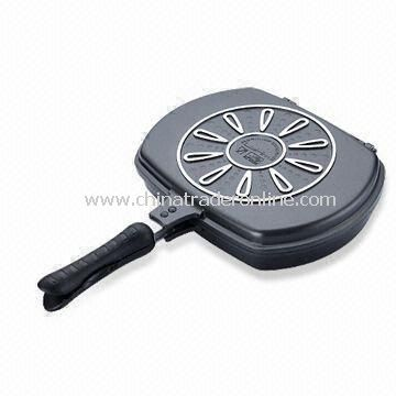 Multifunctional Grill Pan with Silicone Joint Inside, Made of Non-stick Die-cast Aluminum