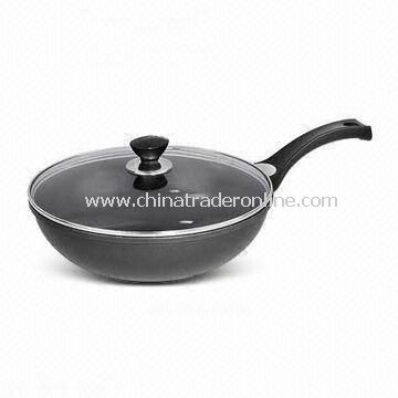 Non-stick Saute Pan in Round Shape, Made of Aluminum