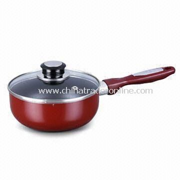 Sauce Pan, Made of Aluminum, Various Sizes and Thicknesses are Available