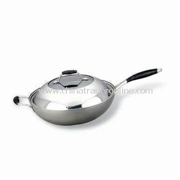 Saute Pan with Stainless Steel Handle, Fast Heat Transfer, Measures 18 to 32cm
