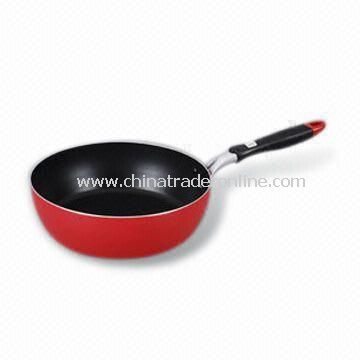 Saute Pan/Wok, Fast Heat Transfer, Corrosion Resistant, Made of Aluminum
