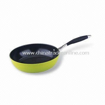 Saute Pan/Wok, Made of Aluminum, Optional Colors, Measures 18 to 32cm