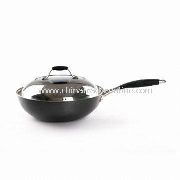 Saute Pan/Wok, Non-Stick Coating, Fast Heat Transfer, Measures 18 to 32cm
