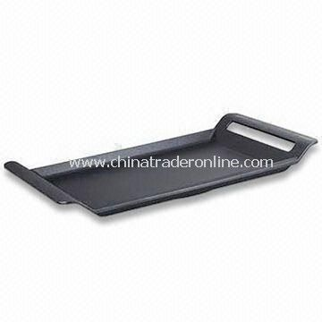 Square-shaped Grill Pan with Non-stick Ceramic Inner Coating, Easy to Clean