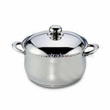 Stainless Steel Dutch Oven with Stainless Steel Lid, Handle and Knob, Capsule Bottom with Aluminum