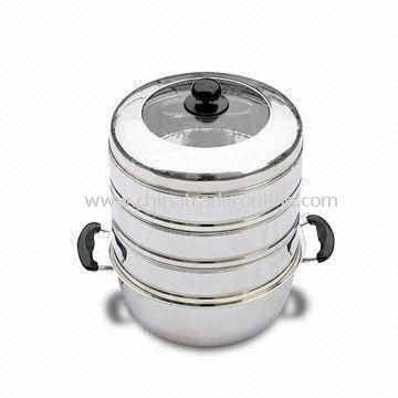 20 to 28cm Durable Stainless Steel Casserole, Available in Various Designs and Sizes, Easy to Clean