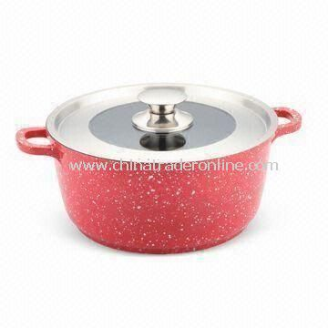 24 x 11.5cm Casserole with Marble Coating, Made of Aluminum