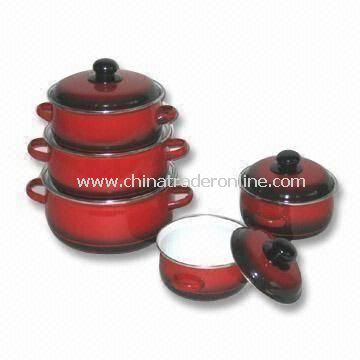 Casserole Set with Lid, Measures 16 to 24cm