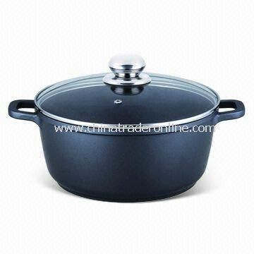 Casserole with Non-stick Coating, Measures 16, 20, 24, 28 or 32cm