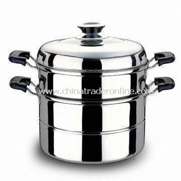 Casseroles in Various Sizes and Designs, Duarable and Easy to Clean, Made of Stainless Steel