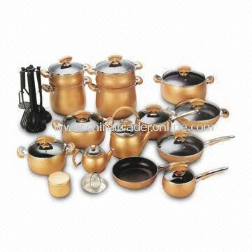 Cookware Set, Includes Sauce Pan, Fry Pan, Dutch Oven, and Casserole