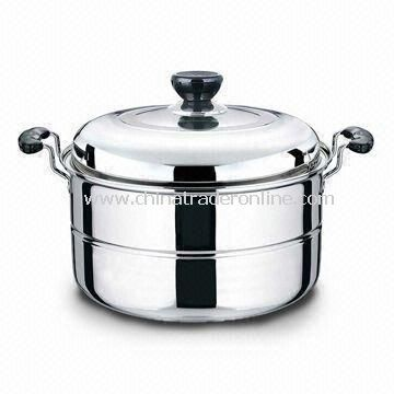 Durable Casserole, Comes in Various Sizes/Designs, Made of Stainless Steel, Easy to Clean