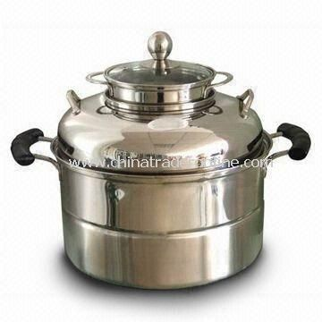 Durable Stainless Steel Casserole, Easy to Clean, Various Sizes and Designs are Available