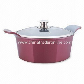 Elaine Line Casserole with Sprayed Ceramic Coating, Available in Various Sizes