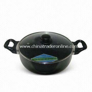 Non-stick Casserole, Made of Aluminum, Measures 18 to 40cm