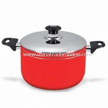 Non-stick Dutch Oven with Stainless Steel Lid, Made of Aluminum Alloy