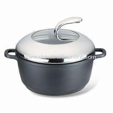 Nonstick Casserole/Sauce Pan, Available in Various Sizes, Made of Die-cast Aluminum
