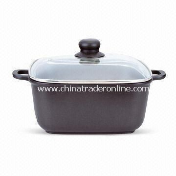 Square Type Casserole in Various Specifications, Die Casting
