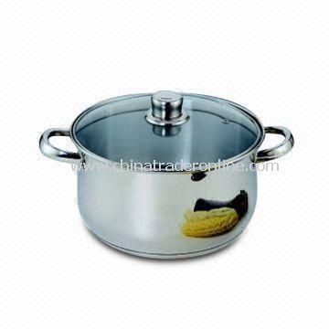 Stainless Steel Dutch Oven with Stainless Steel Handle and Knob, Capsule Bottom with Aluminum