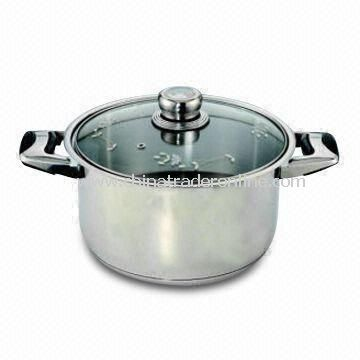 Stainless Steel Dutch Oven with Thermo-Knob, Bakelite and Stainless Steel Combination Handle