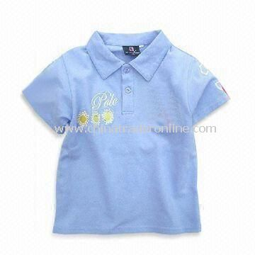 Baby T-shirts with Short Sleeves, Available in Various Colors and Sizes, Made of 100% Combed Cotton