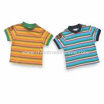 Childrens T-shirts, Made of 100% Cotton, Suitable for 0 to 8 Years